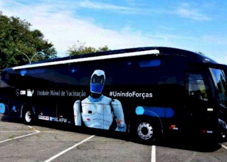 Ônibus da vacinação contra a Covid-19 vai viajar o Brasil; Campo Grande está na rota