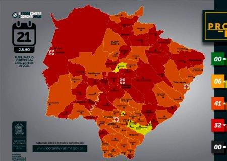 Fátima do Sul e Vicentina entra na bandeira laranja pelo Prosseguir, com grau médio de risco para Covid