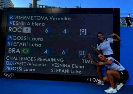 Dupla brasileira conquista medalha de bronze no tênis feminino