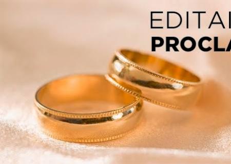 Cartório de Vicentina informa editais de proclamas de casamentos