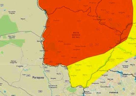 Tempo seco: Inmet alerta para umidade do ar próxima de 12% em parte de Mato Grosso do Sul