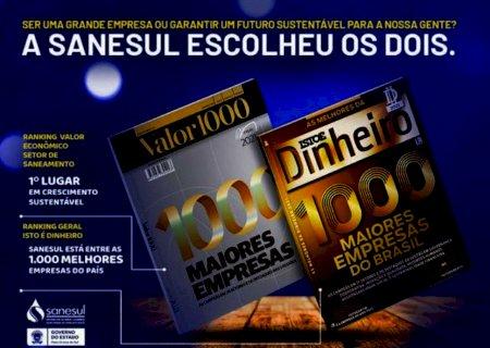 Sanesul se consolida entre as melhores empresas do Brasil