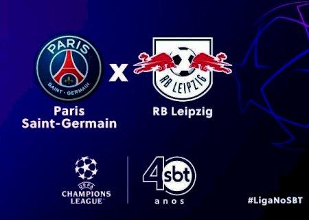 SBT transmite PSG x RB Leipzig pela Liga dos Campeões nesta terça-feira
