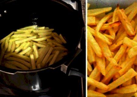Batata frita na pressão supercrocante com 3 ingredientes