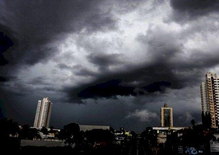 Previsão para o domingo é de chuva e tempestades isoladas em Mato Grosso do Sul