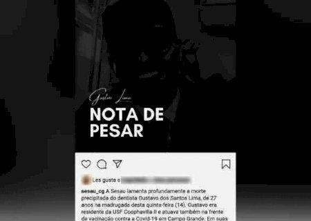 Secretaria divulga nota de pesar por morte de dentista vítima de homofobia em MS